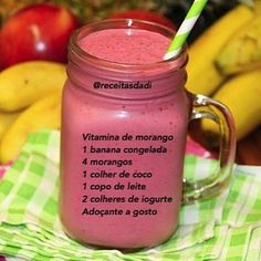 Menu Café, Smoothies Detox, Healthy Drinks, Healthy Recipes, Get Thin, Nutrition, Fresh Fruits And Vegetables, Recipe Link, Bento