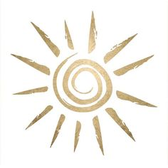 """This is a gold temporary tattoo of a lovely sun design. This tattoo is perfect for wearing to the beach! Sheet Size: 2"""" x 2"""" - Lasts 5-7 days even with swimming and bathing! - Easy to put on and easy More"""