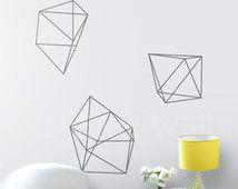 Diamanten muur stickers geometrische Shapes Home Decor verwijderbare Vinyl muur Decal diamant Vinyl muur Stickers