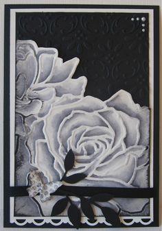 Stampin Up card - Manhattan Flower - Black/Vanilla