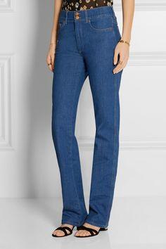 Blue stretch-denim Buttons and concealed zip fastening at front 98% cotton, 2% elastane Machine wash Designer wash: 79 Blue