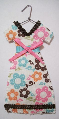 Adoeable! Sweet Posies Miniature Dress Christmas Ornament by agapeboutique on Etsy, $9.95 Would be great as a baby girl gift!