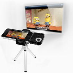Mini Projetor Portátil para Iphone - Ipad e outros - 10 lumens  - Led Branco - Lente com Distancia Focal - Projeta até 7 polegadas   Produto...