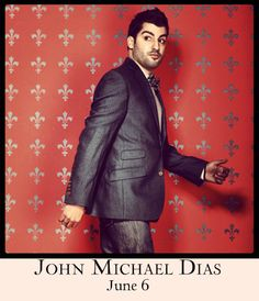 John Michael Dias at 54 Below on June 6th. Get tickets at www.54below.com