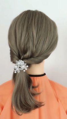 Hairstyle Tutorial 905 – beautiful hair styles for wedding Bride Hairstyles, Ponytail Hairstyles, Cute Hairstyles, Hairstyle Ideas, Bob Hairstyles How To Style, How To Style Short Hair, Cool Hairstyles For School, Style Hair, Silky Hair