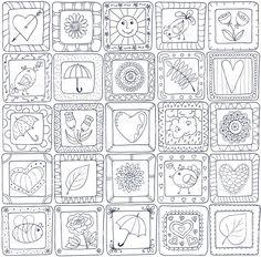Template frame design for card with set… Geometrische nahtlose patchwork-Look versehen. Heart Coloring Pages, Colouring Pages, Adult Coloring Pages, Coloring Books, Pattern Coloring Pages, Doodle Drawings, Doodle Art, Zentangle Patterns, Embroidery Patterns