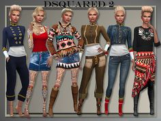 Designer Fall Winter: tops, bottoms & leggings at All About Style via Sims 4 Updates