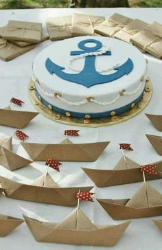 Just example nautical cake Baby Shower Favors, Baby Shower Themes, Baby Boy Shower, Baby Shower Invitations, Baby Showers, Nautical Cake, Nautical Party, Sailing Party, Boat Cake