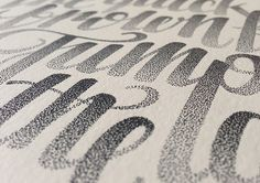 Stippled Hand-Lettering by Xavier Casalta