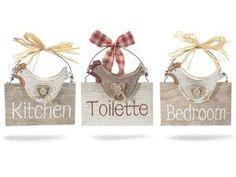 targhette in legno fuoriporta per stanze - ideali per hotel e ... - Targhe Per Toilette