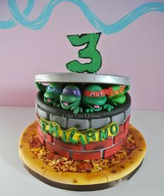 TMNT Cake! Teenage mutant Ninja Turtle Cake!