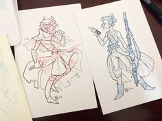 Gave those Kylo and Rey sketches the Inktober treatment since my art block has been terrible as of late~ Kinda want a Finn to go with these :) Edit: Also I just hit 7K followers!! :O :O Thank you all so much, I love you all!