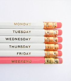 Hello Weekend Pencils #beautifulswitch