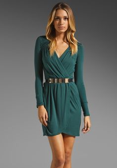 AKIKO Wrap Dress in Emerald at Revolve Clothing - Free Shipping!
