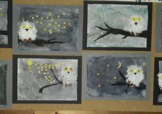 The pictures are … - Deutschunterricht Art Education Projects, High School Art Projects, Art Education Lessons, Winter Art Projects, Winter Crafts For Kids, Art Lessons Elementary, Art For Kids, Art Cart, Ecole Art
