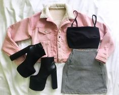 - Edgy Outfits - Source by mandyanwendt Fashion outfits Cute Casual Outfits, Edgy Outfits, Retro Outfits, Grunge Outfits, Fall Outfits, Summer Outfits, Teen Fashion Outfits, Cute Fashion, Look Fashion