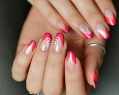 Great Ideas For Holiday Nails – NaiLovely French Tip Nail Art, French Nail Designs, Disney Acrylic Nails, Summer Acrylic Nails, Lilac Nails, Blue Nails, Turquoise Nail Art, Jolie Nail Art, Nail Art Designs Videos
