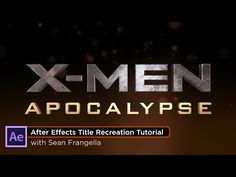 X-men movie logo photoshop tutorial, creating a great metal.
