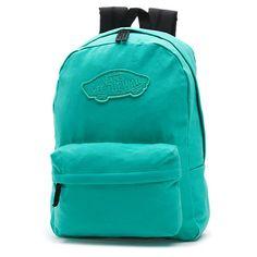 Realm Backpack ($38) ❤ liked on Polyvore featuring bags, backpacks, b a g s, backpack, florida keys, vans bag, rucksack bag, logo bags, knapsack bag and blue backpack