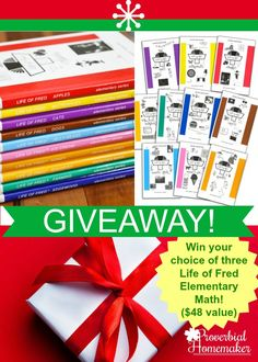 Life of Fred Math GIVEAWAY! - http://www.proverbialhomemaker.com/life-fred-math.html
