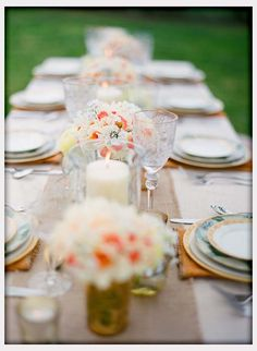 Decorations, Outdoor Wedding Table Decor
