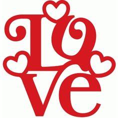 Silhouette Design Store - View Design #40935: love stack hearts