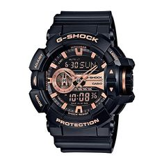 From super-tough #G-SHOCK comes a new collection of GA-400 with a large rotary switch for intuitive operation. Basic G-SHOCK black is accented in gold to create ...