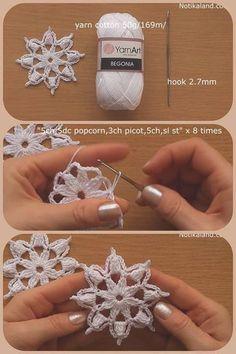 Best 12 Crochet snowflake with chart… – Page 804666658395032721 – SkillOfK.Best 12 Crochet snowflake with chart… – Page 804666658395032721 – SkillOfKing.Com [dentelle diy Crochet Flower Hat, Crochet Snowflake Pattern, Christmas Crochet Patterns, Crochet Snowflakes, Holiday Crochet, Crochet Flower Patterns, Crochet Motif, Flower Applique, Crochet Lace