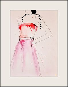 About A Pearl Fashion Illustration Art Print by LeighViner