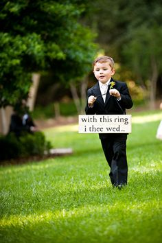 ring bearer sign - Photo Source • My Life Photography