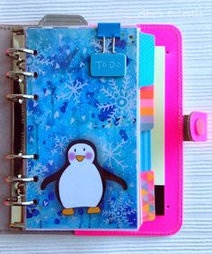 She's Eclectic: One for you and one for me! Mrs Brimbles (on Etsy) penguin dashboard in my new fluoro pink Original