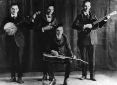 Group leader Gage Brewer (seated) in the early years of his career as a musician, songwriter, and dance orchestra leader. His group began performing on radio in Wichita, then traveled in and out of the U.S., and ultimately Brewer established the Shadowlands Dance Club in Wichita in 1937.