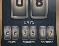Countdown App by Eugene Zolotco, via Behance