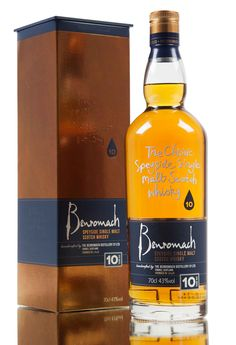A 10 year old release from Benromach distillery, created from bourbon barrels, sherry hogsheads with the final year spent in first fill Oloroso casks. Good Whiskey, Scotch Whiskey, Bourbon Whiskey, Rum Bottle, Liquor Bottles, Whiskey Bottle, Whisky Shop, Whisky Bar, Speyside Whisky