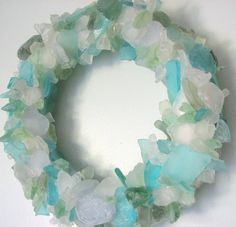 Sea glass wreath