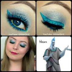 Disney Hades Make-up Trendy Halloween, Disney Halloween, Halloween Make Up, Halloween Face Makeup, Halloween 2018, Halloween Costumes, Halloween Ideas, Disney Costumes, Disney Inspired Makeup