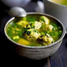 Kofta Meatball Spinach Soup