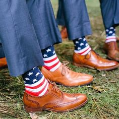 Best Seller! Show your Red, White and Blue all year round. Our men's American flag novelty socks are perfect for people in the armed services, veterans, and any proud American. They're also fun patrio