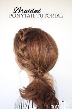 Weekend style - Braided ponytail tutorial