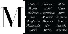 The Letter 'M' - HarpersBAZAAR.com