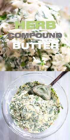 How to make herb compound butter Herb Compound Butter Recipe - DIY flavored butter with fresh herbs Flavored Butter, Homemade Butter, Herb Butter For Steak, Butter For Steaks, Garlic Herb Butter, Herb Compound Butter Recipe, Herb Recipes, Cooking Recipes, Cooking With Fresh Herbs
