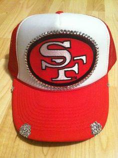 San Francisco 49ers womens trucker hat by 1KraftyGirl on Etsy, $25.00