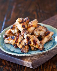 Grilled honey miso wings by steamy kitchen.