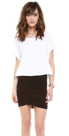 Stateside Royal Boxy Cropped Tee | SHOPBOP