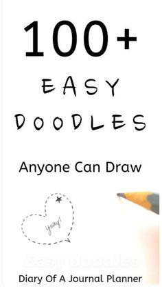 Doodle Art For Beginners, Easy Doodle Art, Easy Drawings For Beginners, Doodle Art Drawing, Easy Doodles Drawings, Doodles Zentangles, Fun Easy Drawings, How To Doodle, Cute Easy Doodles