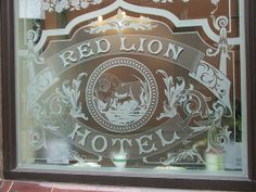 Etched glass public house window | Flickr - Photo Sharing!