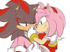 Read Shadamy from the story Imagenes de los shippings de sonic by with reads. Shadow The Hedgehog, Sonic The Hedgehog Show, Amy Rose, Shadow And Amy, Sonic And Shadow, Shadamy Comics, Tarot, Sonic Funny, Creation Art