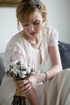Elegant Cotton Flower Wedding Ideas on http://whimsicalwonderlandweddings.com