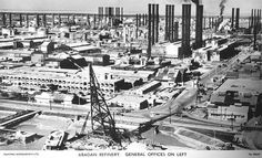 Abadan Refinery general offices on left 1930's