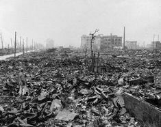 Twisted metal and rubble marks what once was Hiroshima -- Japan's most industrialized city, seen some time after the atom bomb was dropped here on Aug. 6, 1945.